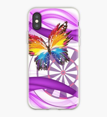 Butterfly And Dartboard Ladies Darts Shirt iPhone Case