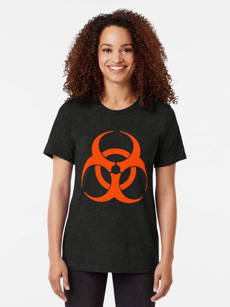 Alternate view of Biohazard 009 Tri-blend T-Shirt