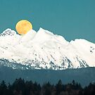 Full Moon Rising Over Three Fingers Mountains by Jim Stiles