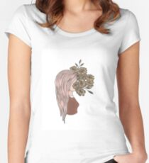 flower face Women's Fitted Scoop T-Shirt