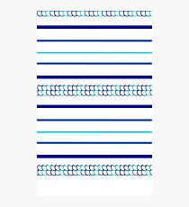 Blue Scale Pattern Photographic Print