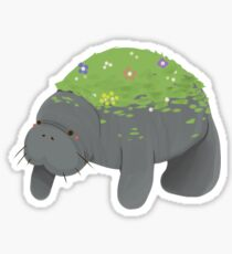 Flower Manatee Sticker