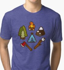 Camping is Cool Pattern Tri-blend T-Shirt