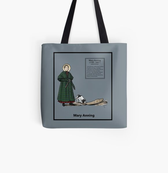 Mary Anning All Over Print Tote Bag