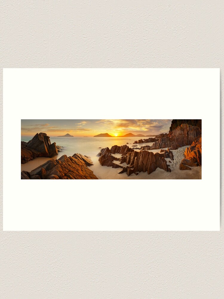 Alternate view of Shoal Bay Sunrise, New South Wales, Australia Art Print