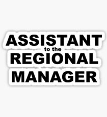 eb1518e97 Assistant to the Regional Manager Stickers | Redbubble