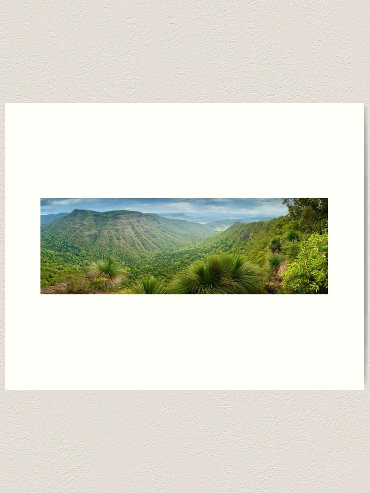 Alternate view of Moonlight Crag, Lamington National Park, Queensland, Australia Art Print