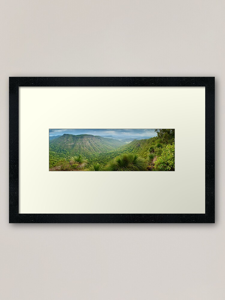 Alternate view of Moonlight Crag, Lamington National Park, Queensland, Australia Framed Art Print