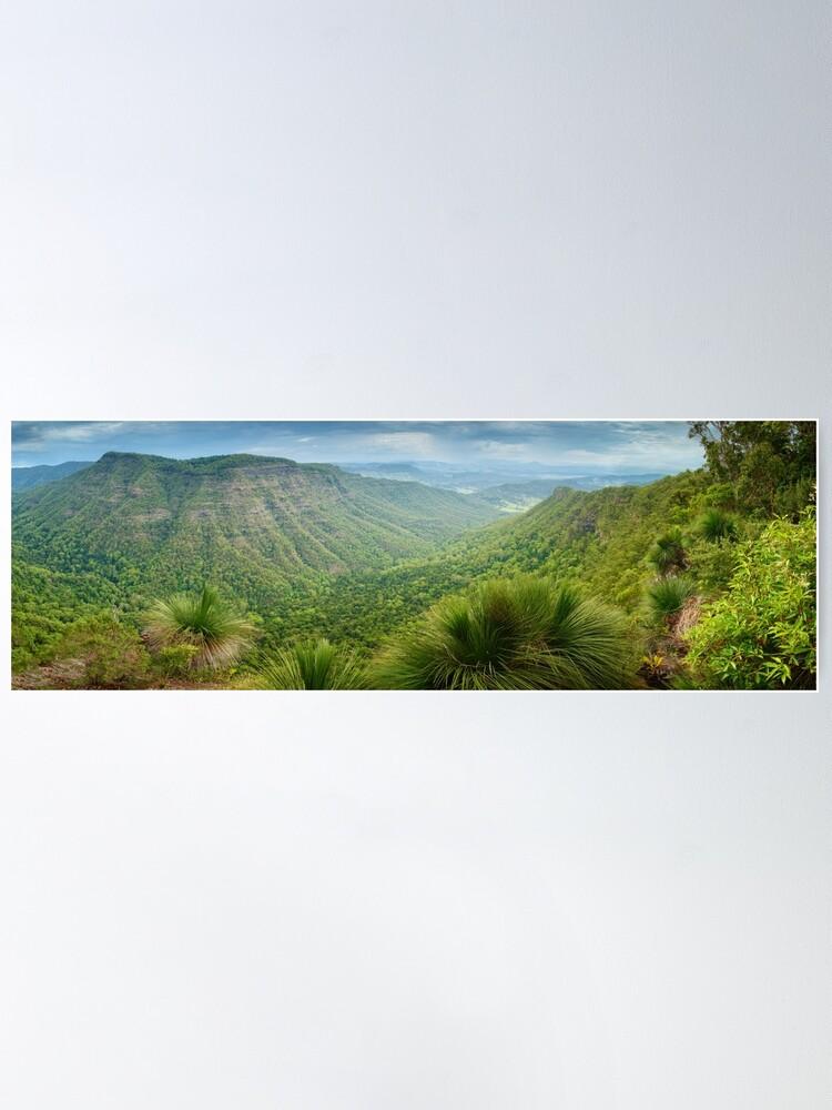 Alternate view of Moonlight Crag, Lamington National Park, Queensland, Australia Poster