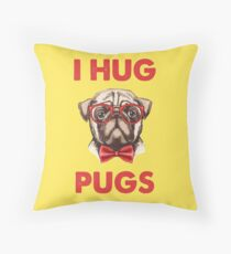 Hug A Pug Throw Pillow