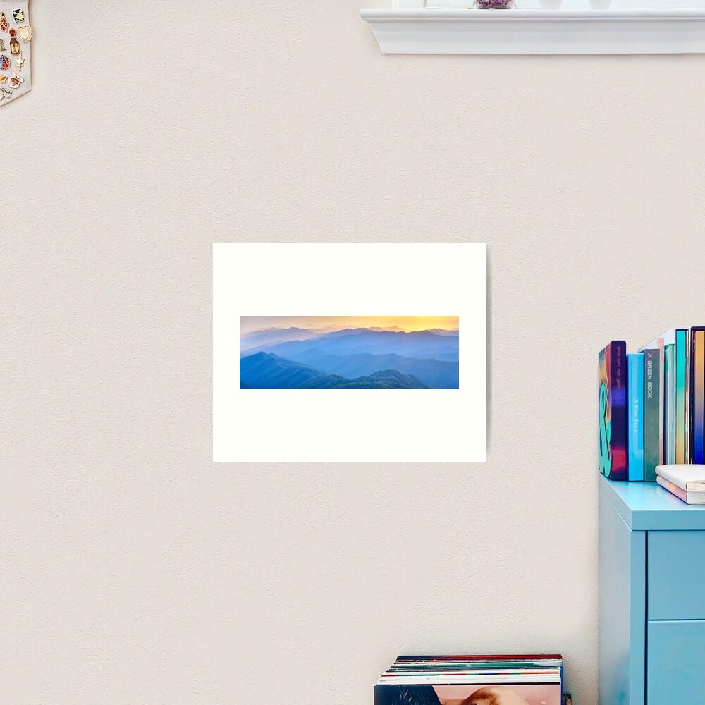 Layered Dawn, New England National Park, New South Wales, Australia Art Print