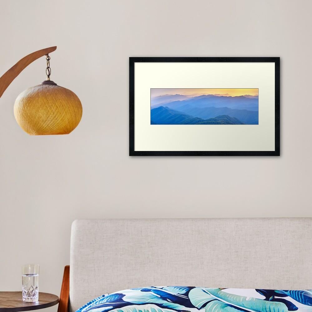 Layered Dawn, New England National Park, New South Wales, Australia Framed Art Print