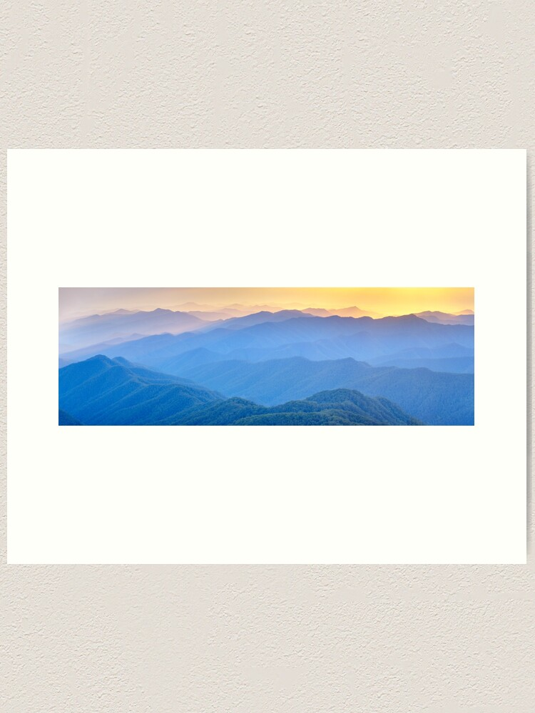 Alternate view of Layered Dawn, New England National Park, New South Wales, Australia Art Print