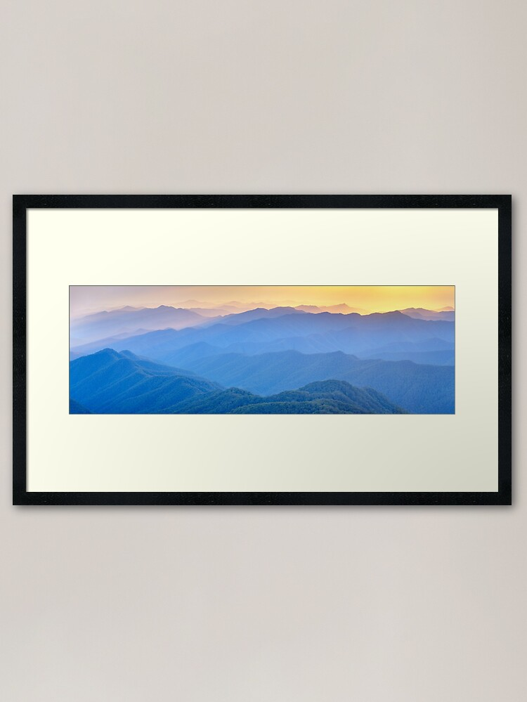 Alternate view of Layered Dawn, New England National Park, New South Wales, Australia Framed Art Print