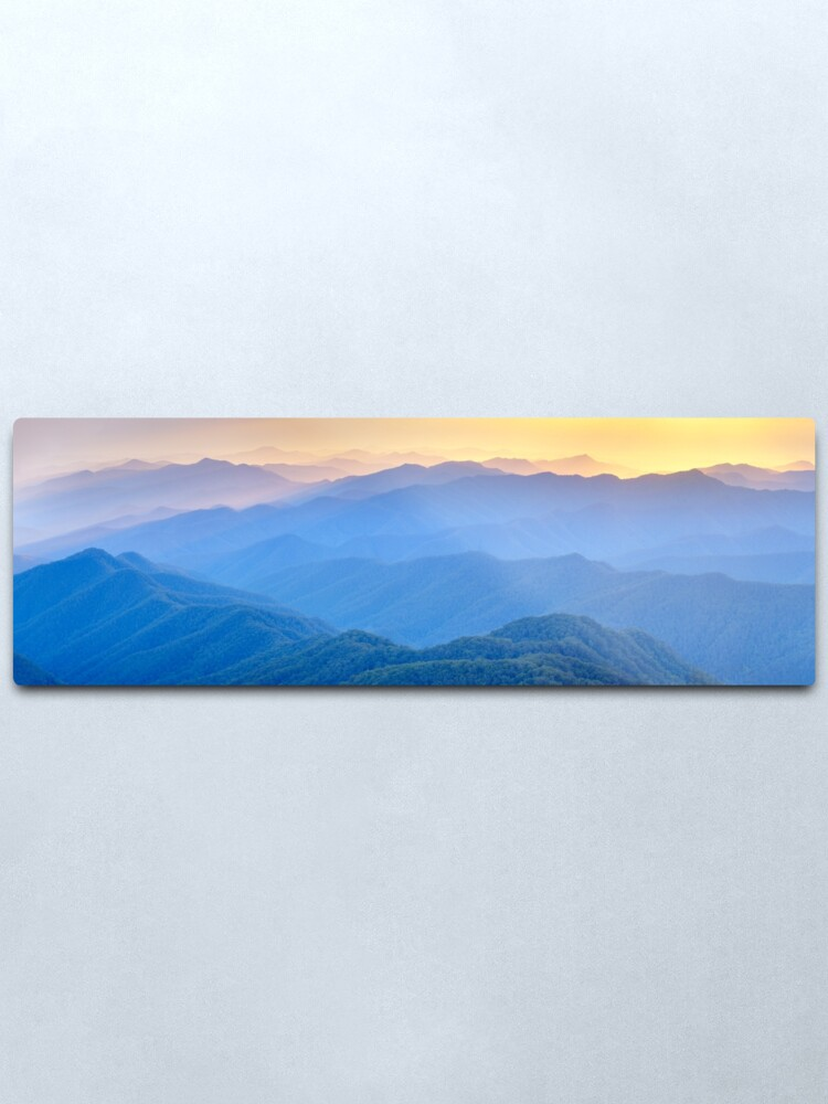 Alternate view of Layered Dawn, New England National Park, New South Wales, Australia Metal Print