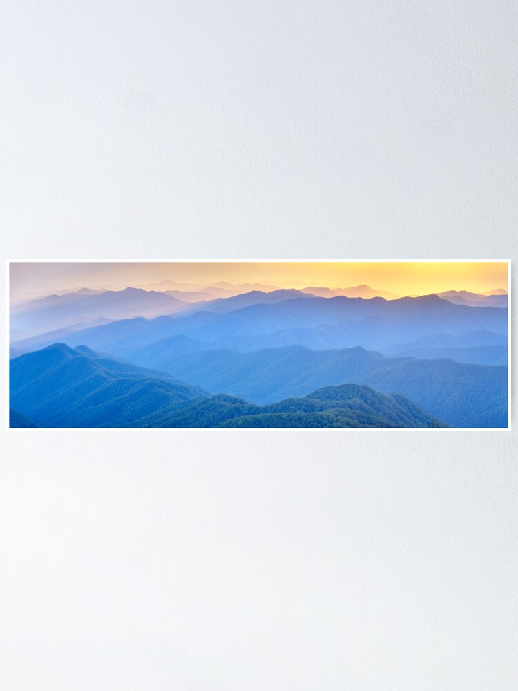 Alternate view of Layered Dawn, New England National Park, New South Wales, Australia Poster