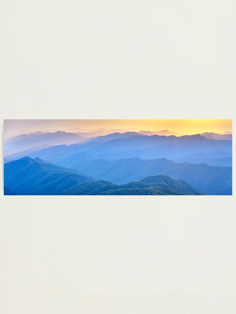 Alternate view of Layered Dawn, New England National Park, New South Wales, Australia Photographic Print