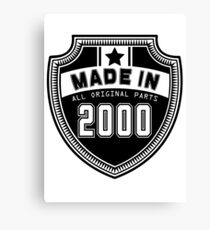 Made In 2000 All Original Parts Canvas Print