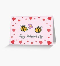 Valentine's Day Bees Greeting Card
