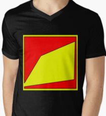 .Pattern B-1. .Centered And Fitted. Mens V-Neck T-Shirt