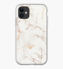 Copper Rose Gold Marble iPhone Case
