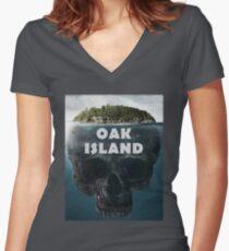 Oak Island Nova Scotia Canada Women's Fitted V-Neck T-Shirt