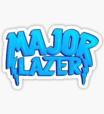 Major Lazer Blue Sticker