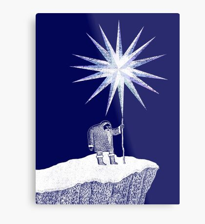 Old Man Winter Hermit and North Star Metal Print