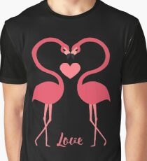 Love birds swan heart valentines Graphic T-Shirt