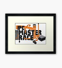 PC MASTER RACE - LOGO Framed Print