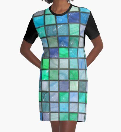 Tile Squares Design by Julie Everhart Graphic T-Shirt Dress
