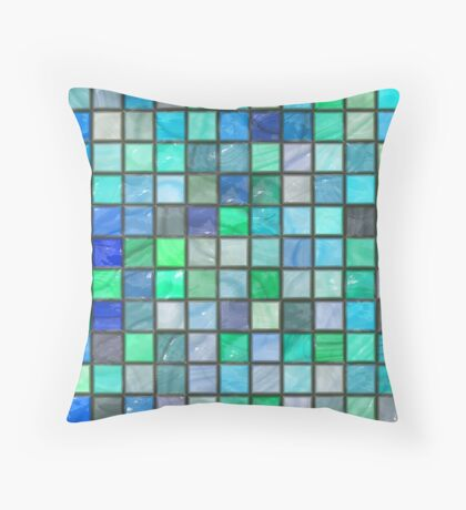 Tile Squares Design by Julie Everhart Throw Pillow
