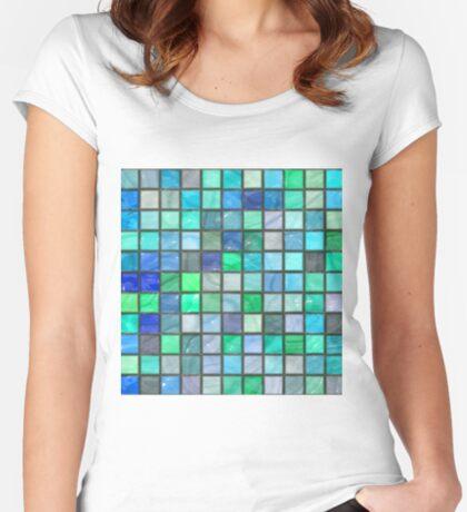 Tile Squares Design by Julie Everhart Fitted Scoop T-Shirt
