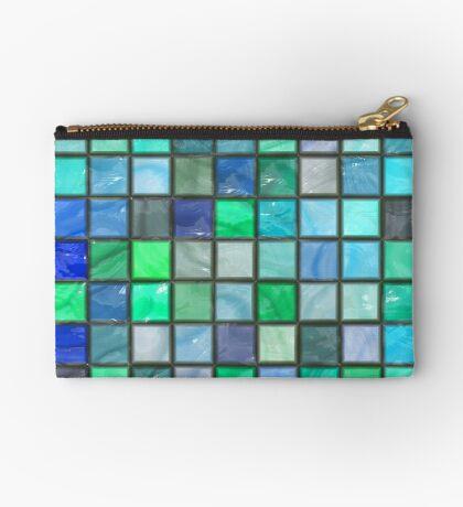 Tile Squares Design by Julie Everhart Zipper Pouch