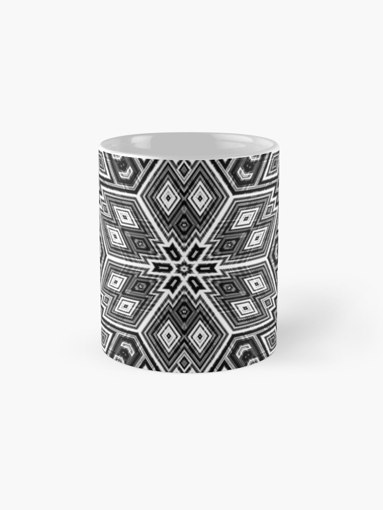 Alternate view of Black and White Cubes by Julie Everhart Mugs