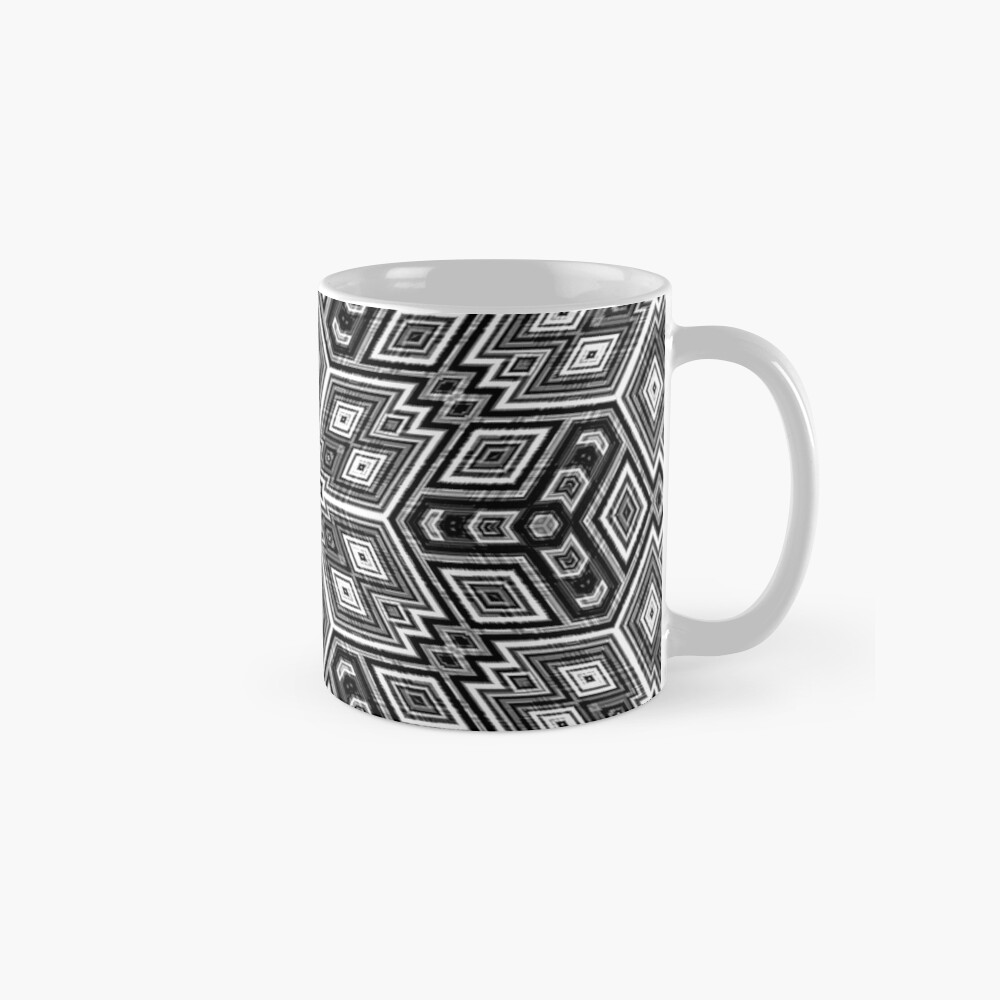 Black and White Cubes by Julie Everhart Mugs