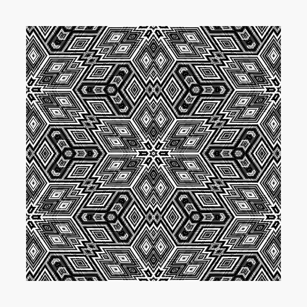 Black and White Cubes by Julie Everhart Photographic Print