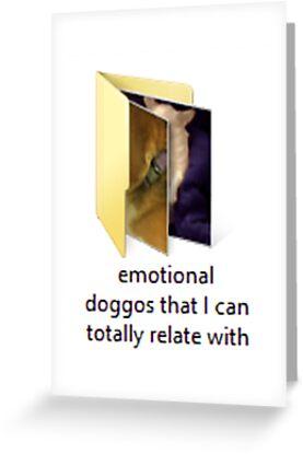 Emotional doggo greeting cards by erich j redbubble emotional doggo by erich j m4hsunfo