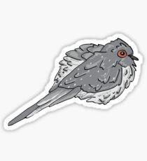 Cute Fluffy Diamond Dove  Sticker