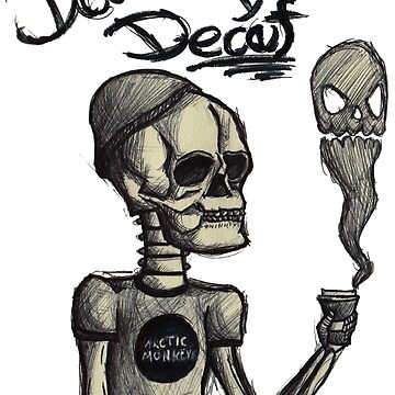 Death Before Decaf skeleton by filippogiardina