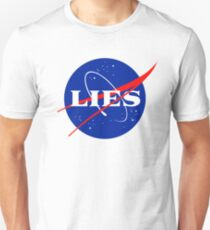NASA LIES LOGO Slim Fit T-Shirt
