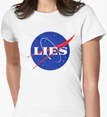 NASA LIES LOGO Women's Fitted T-Shirt