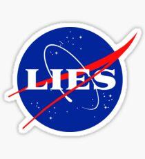 NASA LIES LOGO Sticker