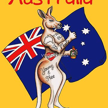 Australia flag with kangaroo by niarachdiani