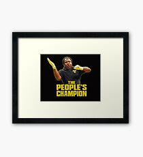 Cecil - The People's Champion MMA T-Shirt Framed Print