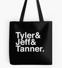 Tyler & Jeff & Tanner Tote Bag