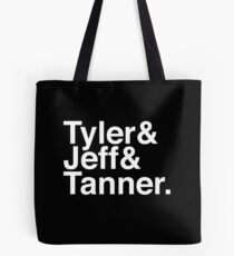 Tyler & Jeff & Tanner Tote Bag