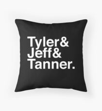 Tyler & Jeff & Tanner Throw Pillow