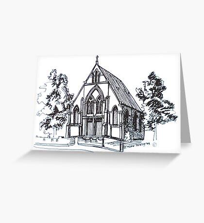 Christ Church Kensington Melbourne. Elizabeth Moore Goldingⓒ Greeting Card