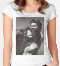 River & Keanu Women's Fitted Scoop T-Shirt